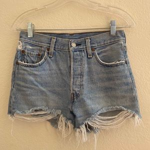 LOT of 2 Levi's 501 Cutoff Shorts
